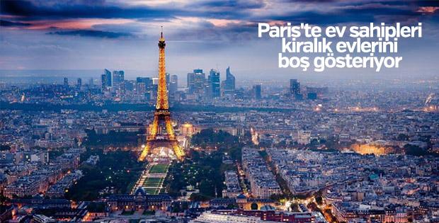 Paris'te ev sahipleri kiralık evlerini boş gösteriyor